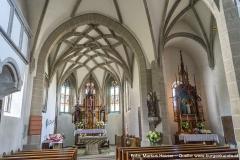 Das Kircheninnere von Arbing dominiert gotische Architektur.