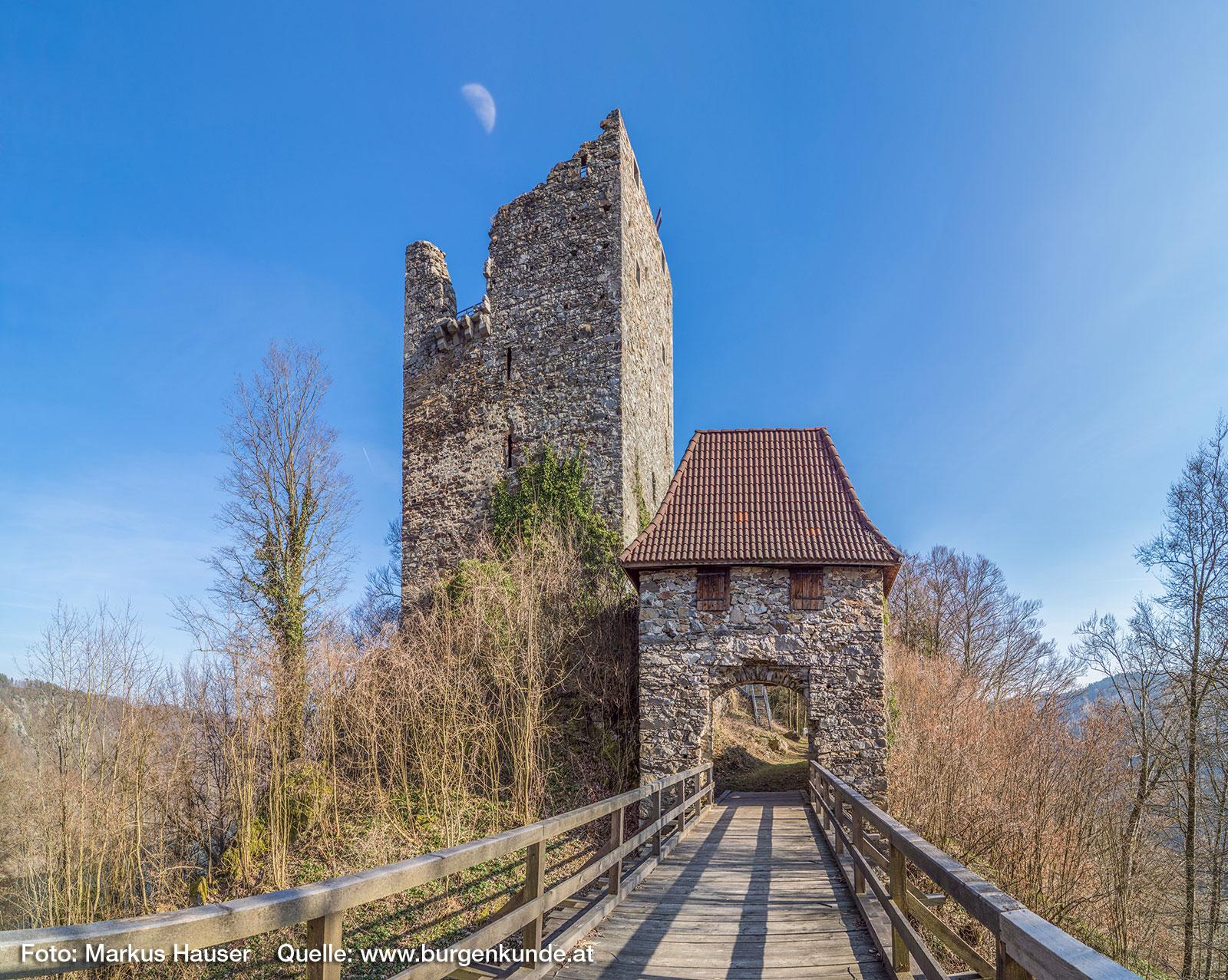 Gesamtansicht der Ruine Haichenbach