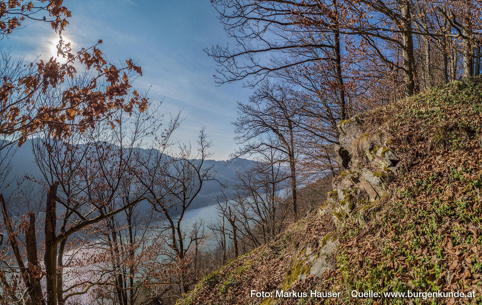 Der Ausblick ins Donautal, den man von der Ruine Haichenbach hat, ist auch heute noch spektakulär.
