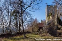Die Ruine Haichenbach, im Volksmund auch als Kerschbaumer Schlössl bekannt, liegt hoch oberhalb der Schlögener Schlinge und bietet einen wunderbaren Rundumblick ins Donautal.