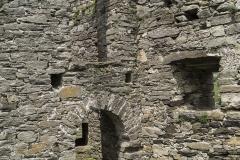 Die Rundtürme am bastionsartig angelegten Vorwerk hatten je einen ebenerdigen Zugang, sowie einen separaten im oberen Stockwerk.