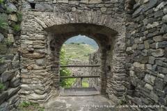Das Tor der Hauptburg von Innen gesehen.