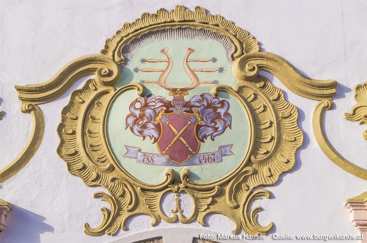 Wappen der Fischbäck (Fischböck) mit Jahreszahl 788 - 1467.