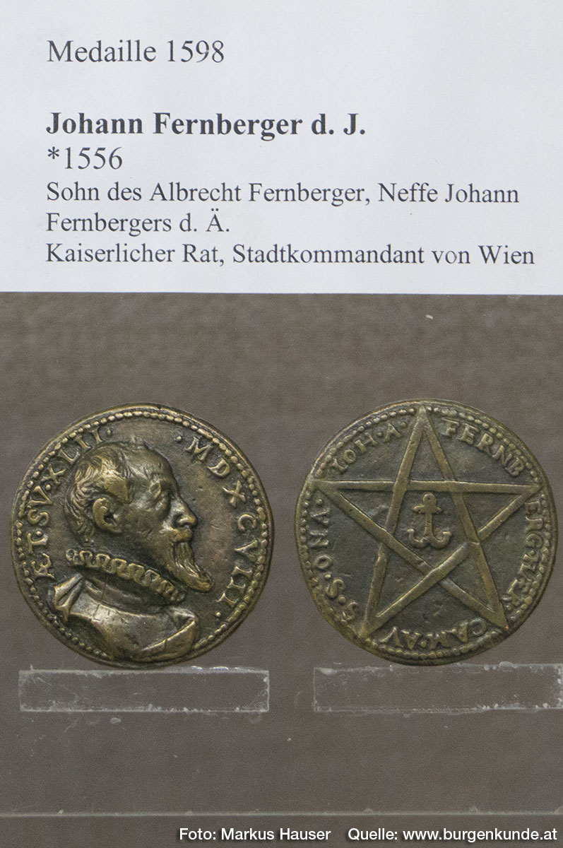 Medaille 1598 mit Motiv Johann Fernberger d. J.
