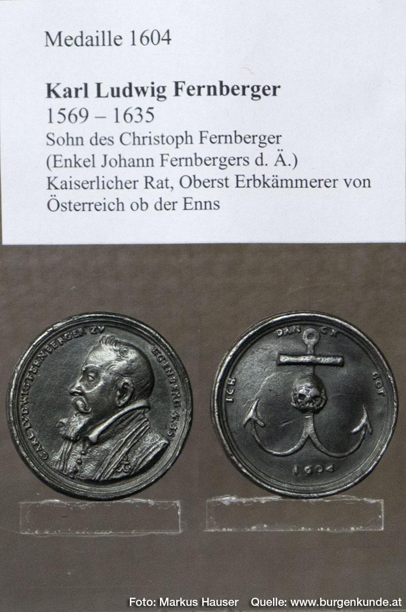 Medaille 1604 mit Motiv Karl Ludwig Fernberger.