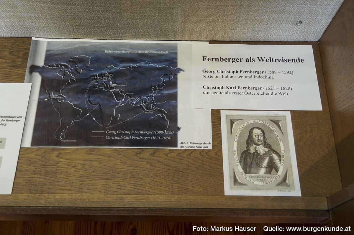 Ein Teil des Heimatmuseum Vorchdorf im Schloss Hochhaus ist dem überregional bedeutenden Geschlecht der Fernberger gewidmet.
