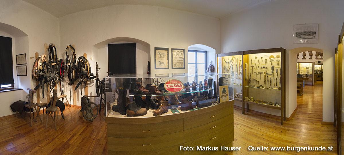 Das Heimatmuseum im Schloss Hochhaus in Vorchdorf.