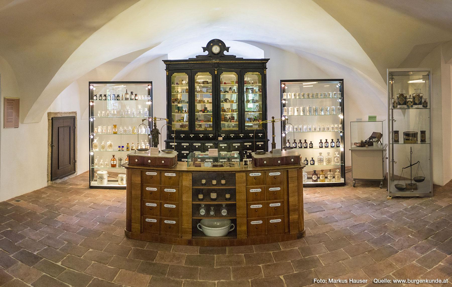 Das Apothekenmuseum im Schloss Pragstein ist einzigartig in ganz Österreichs und weit über die Grenzen hinaus bekannt.