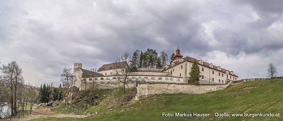Der Turnierhof stammt aus einem Umbau im 17. Jahrhundert.