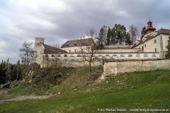 Der einstige Turnierhof wird heute als Garten genutzt.
