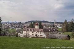 Von hier aus ist es besonders klar ersichtlich, welche Nachteile der Standort von Schloss Waldenfels mit sich braschte.
