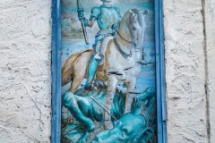 Ein Segenbild des (Haus-)heiligen Georg.