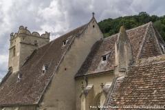 Vom Rundturm aus hat man den besten Überblick über die Wehrkirchenanlage.
