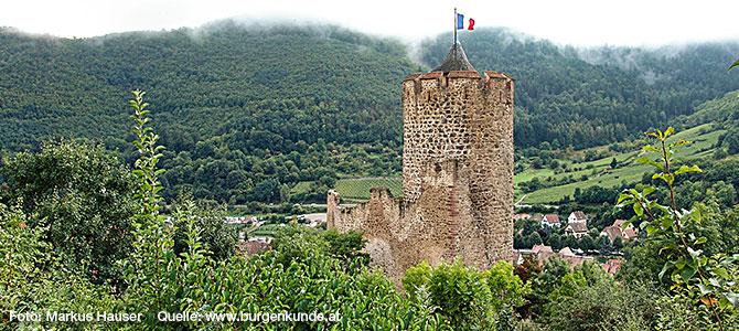 Burg Kaysersberg im Elsass (Frankreich)